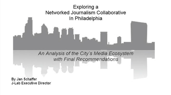 Exploring a Networked Journalism Cooperative in Philadephia