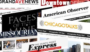University News Sites Collage