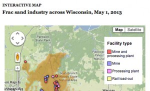 Frac-Sand Map from Wisconsin Center of Journalism
