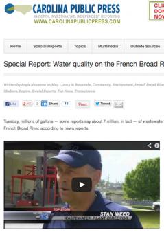 Carolina Public Press article on French River, North Carolina - News Chops