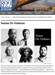 WWNO radio - Voices on Violence