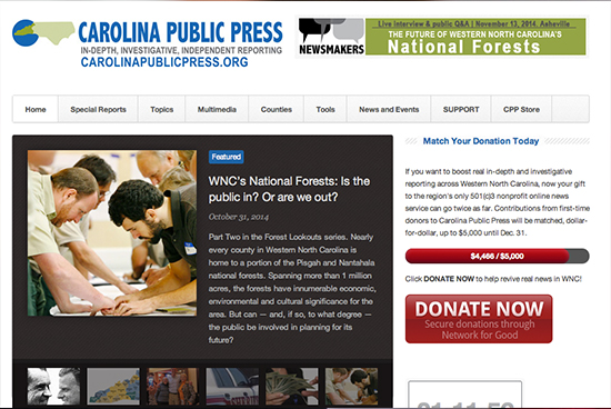 Carolina Public Press Screenshot