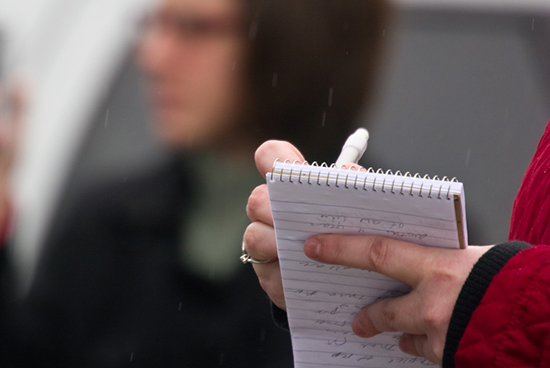 Reporter's notebook   -  Photo by Roger H. Goun on Flickr and used here with Creative Commons license.