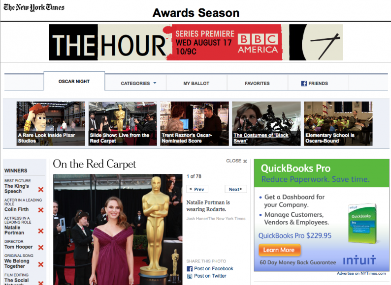 AProject - Knight-Batten Awards 2011 - NYT Oscar Awards