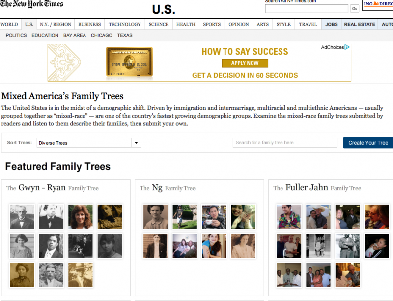 Project - Knight-Batten Awards 2011 - NYT Family Trees