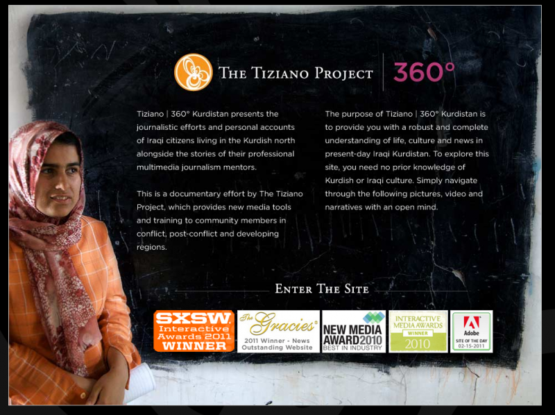 Project - Knight-Batten Awards 2011 - Tiziano project