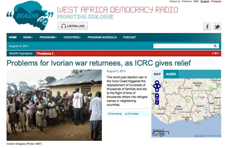 Project - Knight-Batten Awards 2011 - West Africa Democracy Radio