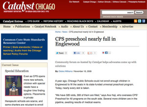 Catalyst education magazine, Chicago - preschool clip