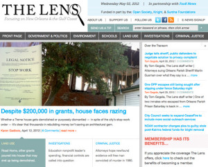 The Lens home page