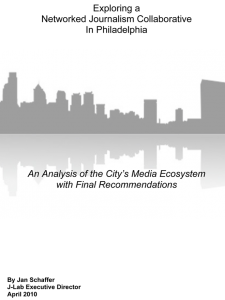 Exploring a Networked Journalism Collaborative in Philadephia