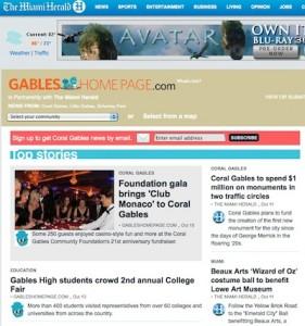 Miami Herald | Miami Community News Network - Gables Home Page, Coral Gables
