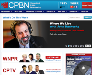 Connecticut Public Broadcasting homepage (CPBN)