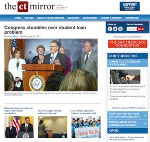 The CT Mirror homepage
