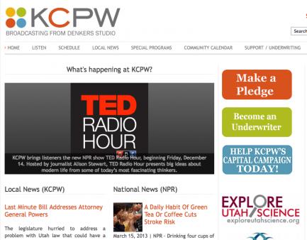 News Chops, UTAH KCPW