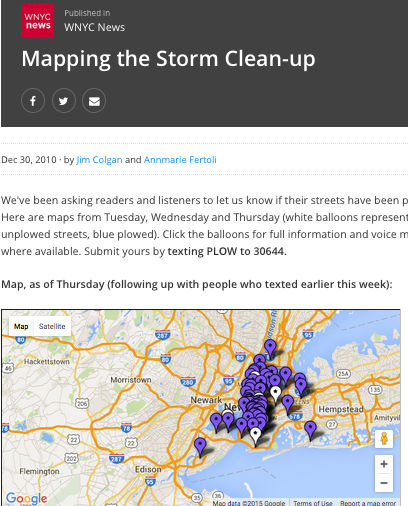 WNYC Crowdsourcing Map