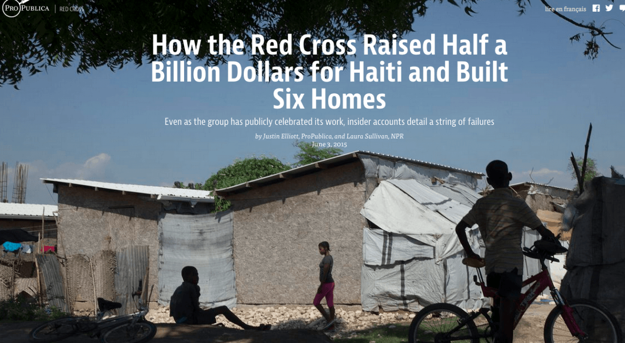 ProPublica's report on Red Cross spending